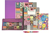 School Supply Gift Set Bundle: Supplies Kit and Weekly Planner for Middle School, High School and College Students (Girl's BFF Theme)