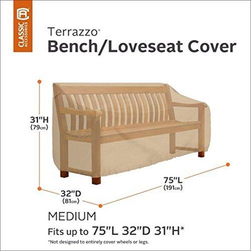 Classic Accessories Terrazzo Patio Bench/Loveseat Cover Medium Sand 58272-EC --P#EWT43 65234R3FA387085