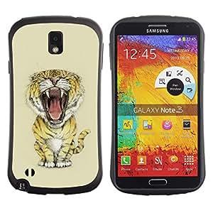 Be-Star Impreso Colorido Diseño Antichoque Caso Del iFace Primera Clase Tpu Carcasa Funda Case Cubierta Par SAMSUNG Galaxy Note 3 III / N9000 / N9005 ( Meow Big Tiger Lion Cat )