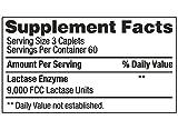 Lactase Enzyme 360 Caplets Generic Lactaid Original Strength