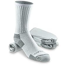 Carhartt Men's 3 Pack All-Season Cotton Crew Work Socks