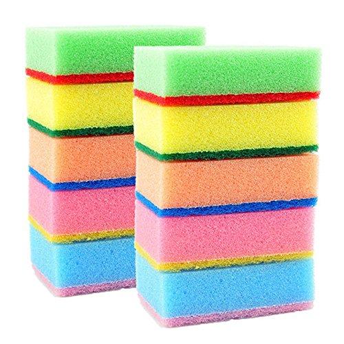 multicolore 10/x Dylandy spugna spugne spugnette spugnetta catering spugne cucina paglietta lavapiatti spazzola di pulizia da cucina strumenti di pulizia