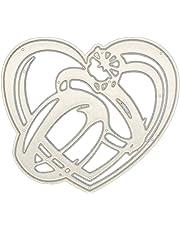 Exing Corazón Anillo Metal – Troquel Troqueles Cutting Esto Stencil, para Scrapbooking Tarjeta Her Espacios