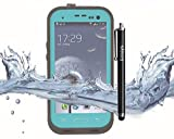 S3 case,Fusicase Samsung Galaxy S3 case,Fusicase New Fashion Durable Waterproof Dustproof Snowproof Shockproof Protective Case Cover for Samsung Galaxy S3(Grass Blue)