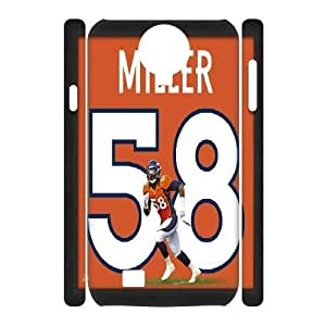 3D Yearinspace Von Miller Photo File Samsung Galaxy S4 Cases for Teen Girls, Case for Samsung Galaxy S4 Mini for Men [White]