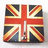 Agility Bathroom Wall Hanger Hat Bag Key Adhesive Wood Hook Vintage British Flag's Photo