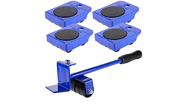 Laileya Herramienta de mano Kit de Rodillos 5pcs de ruedas Corner Motores Muebles para el Hogar Transporte levantador de ruedas Diapositivas Mover: ...