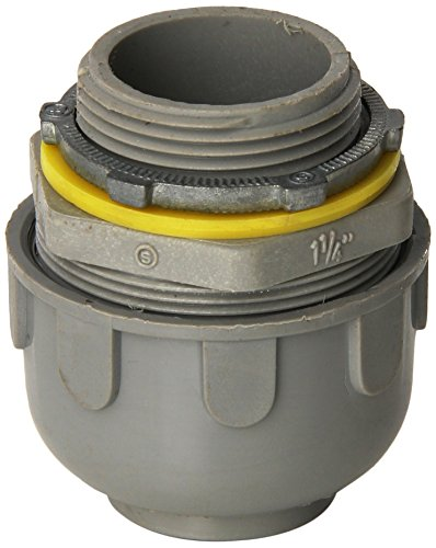 (Morris 21816 Liquid Tight Connector, Straight, Non-Metallic, 1-1/4