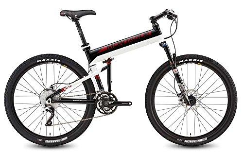 "Montague Paratrooper Elite 18"" Black/Red/White 30 Speed Folding Bike"