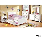 furniture of america kennedy platform youth bed white white finish full
