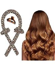 Warmteloze haarkrulspelden geen warmte lint krullen hoofdband zacht schuim haarrollen DIY kapsel krultang lange haarkrulspelden voor slapen baden (bruin)