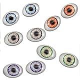 13mm x 18mm Doll Oval Glass Eyes 5 Pair Bulk Bundle Fantasy Taxidermy Art Dolls Making Or Jewelry Crafts Set of 2
