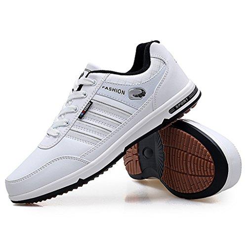 Herbst Winter Männer Casual Sport Laufschuhe Atmungsaktive Sport Wanderschuhe Low-Top Sneakers Walking Trainer Schuhe 39-44 Weiß