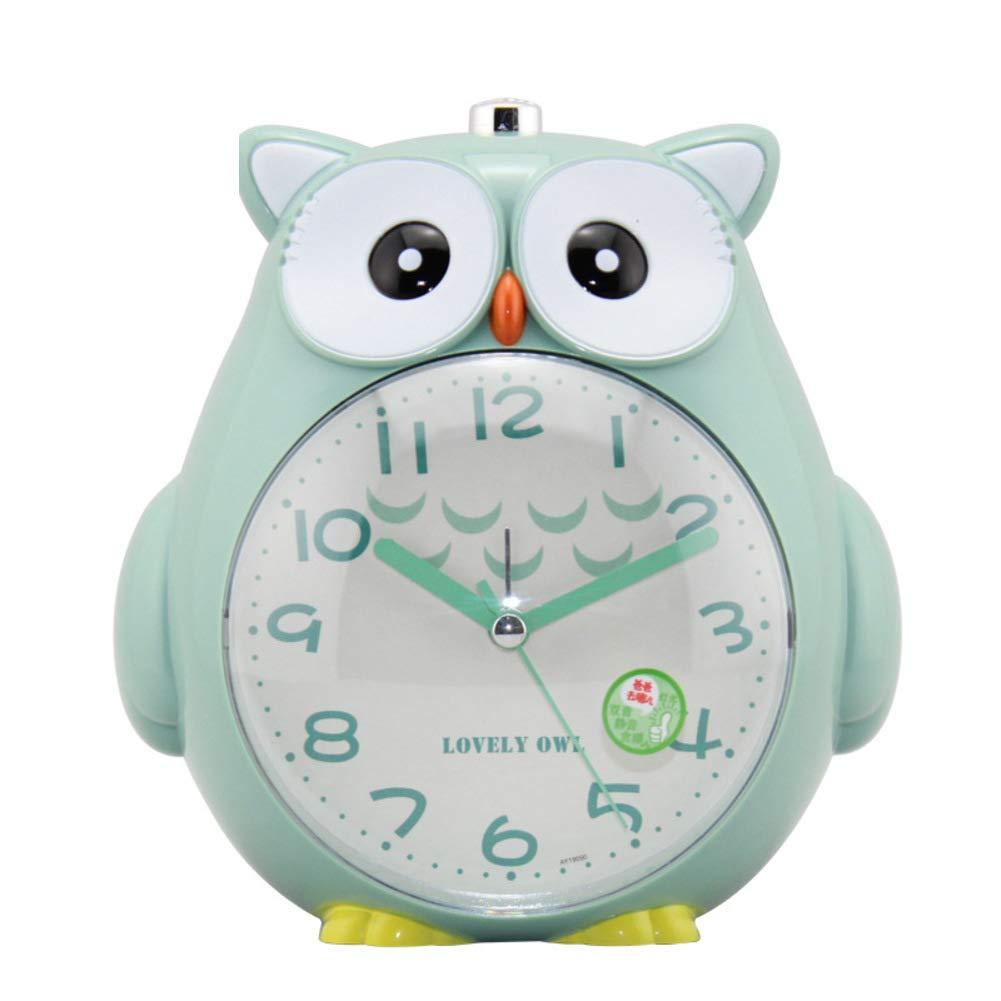 6x2x5in DDGOD Classique R/éveil pour Les Enfants,sans tic-tac Radio-r/éveils Analog Horloge Silencieuse Fort Mignon Hibou Facile /à l/'Ensemble Aliment/é par Batterie R/éveil-Rose 14x5x12cm