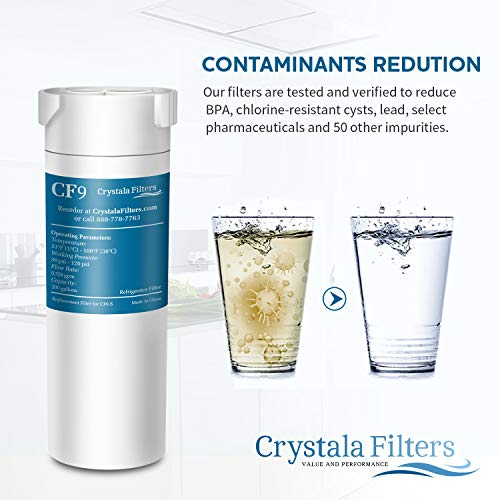 Crystala Filters Compatible with GE XWF Water Filter, Replacement for GE SmartWater Refrigerator Water Filter, (3 PACK) by Crystala Filters (Image #5)
