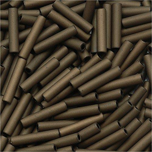 [Toho Bugle Tube Beads Size #3 2x9mm Matte Dark Copper 10 Grams] (Copper Bugle)