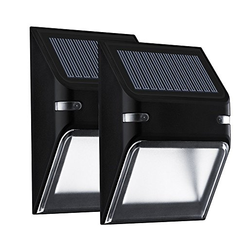 Wall outdoor lighting amazon 2 pack mpow solar lights outdoor lights night lighting 5 led bright wall lamp wireless waterproof daynight auto onoff sensor security lighting for patio mozeypictures Gallery