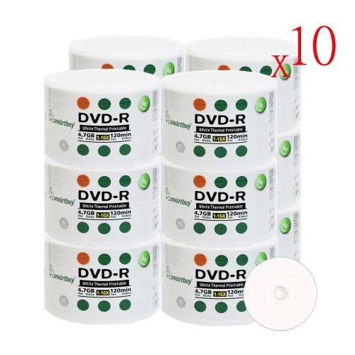 Smartbuy 6000-disc 4.7gb/120min 16x DVD-R White Thermal Hub Printable Blank Media Recordable Disc by Smartbuy (Image #3)