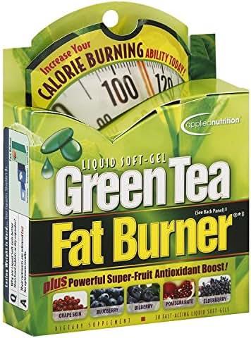 Applied Nutrition Green Tea Fat Burner Liquid Soft-Gels 30 Soft Gels (Pack of 3)
