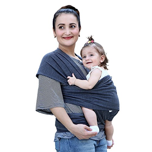Baby Nest Sling (EsTong Baby Sling Cotton Nursing Wrap Multi-Use Infant Carrier for Newborn to 35lbs Black hemp grey)