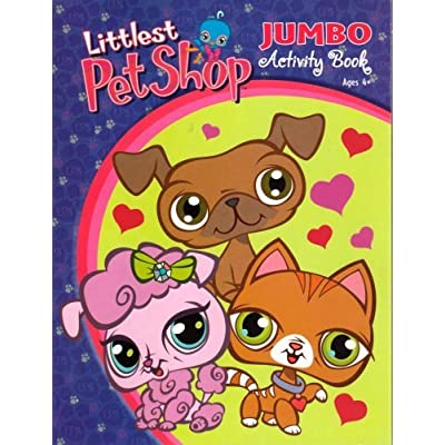 Littlest Pet Shop Jumbo Activity Book ~ Trio of Love: Toys & Games