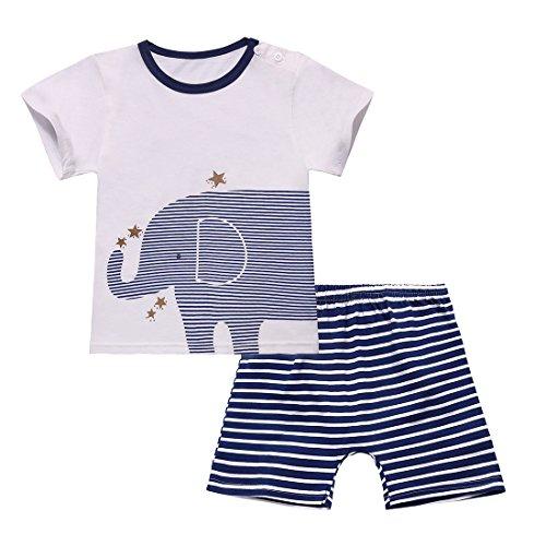 ed9ae3add Jual Dailybella Baby Boys Short Sleeve T-Shirts Shorts Set 2 Piece ...