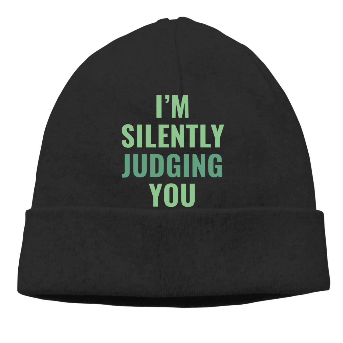 Oopp Jfhg Im Silently Judging You Beanie Hat Skull Caps Mens Black
