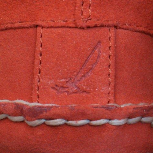 Sperry Top Sider A/O DBL Sole Zapatos de gamuza en barco de los hombres Red