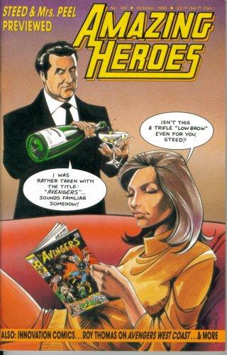 Amazing Heroes #184 : Steed & Mrs. Peel (Fantagraphics Books) Amazing Spider Man Peel
