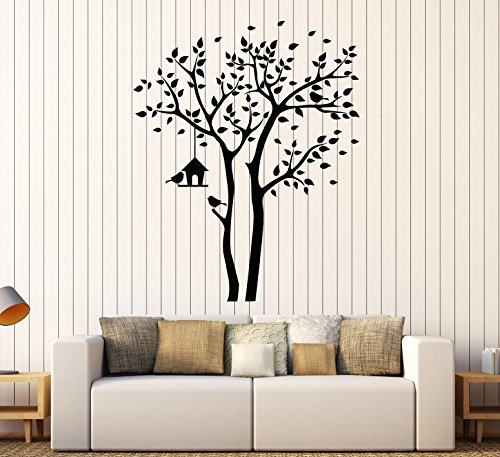 (Large Vinyl Wall Decal Tree Branch Nest Box Leaves Room Decor Stickers (ig4347) Flame)