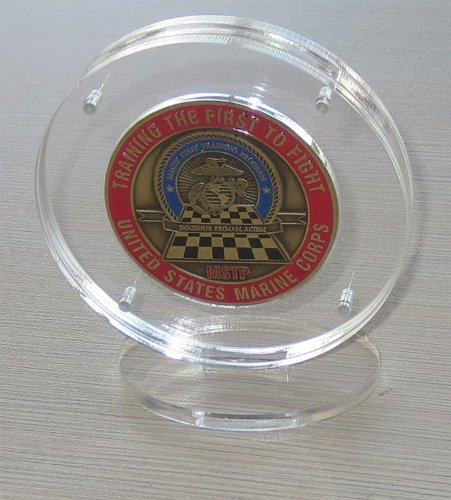 Challenge Coin Display Holder Case with Stand, Clear Acrylic, Magnetic Fasteners, COIN-AC2 - Acrylic Coin Display