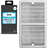 8 Home Revolution Replacement HEPA Filters, Fits Idylis IAP-10-200 and IAP-10-280 Air Purifiers and Type C Parts 0412555 and IAF-H-100C