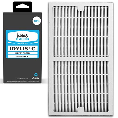 Home Revolution 8 Replacement HEPA Filters, Fits Idylis IAP-10-200 and IAP-10-280 Air Purifiers and Type C Parts 0412555 and IAF-H-100C For Sale