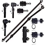 Scitoo 10pcs Suspension Kit Front Ball Joint Tie Rod Ends Adjusting Sleeve Complete 1991-2001 Jeep Cherokee