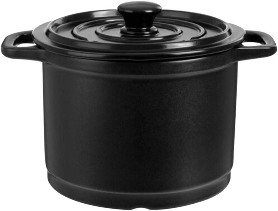 LIUSHI Clay Pot for Cooking in Terracotta Dutch Cooking Fast Oven Heating, Heat Storage and Energy Saving 4L