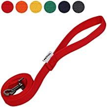 PETPAPA Dog Leash Pet Lead Walking Training 2X layer 4.5feed Lengh 3/4inch Width (Red)