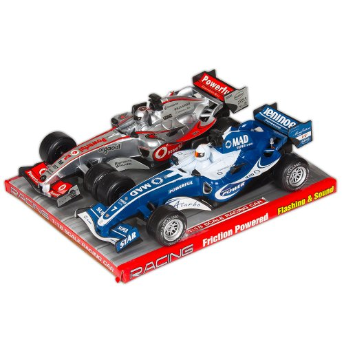 Formula 1 Race Car - Formula 1 Racing Car 2 Pack with Lights and Sound  colors vary