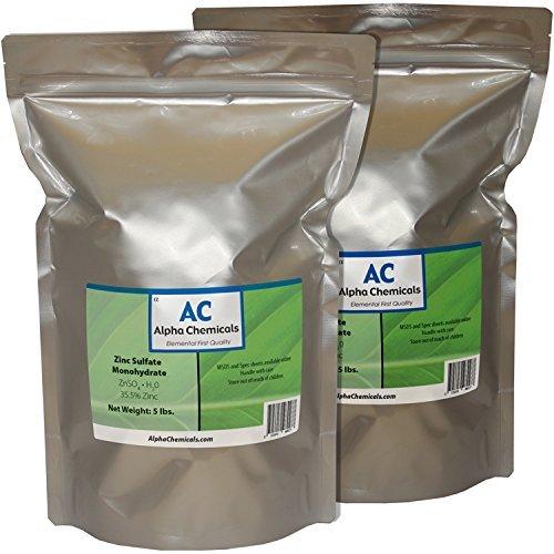 Monohydrate Sulfate - Zinc Sulfate Monohydrate - 35.5% Zn - 10 Pounds