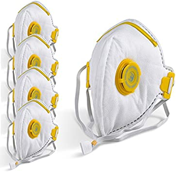FFP3 Mask Dust Face Masks Fold Flat Valved P3 Asbestos Respirator Disposable
