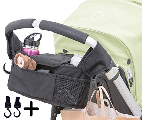 Quality Choices Universal Baby Stroller Organizer with Cup Holder and Two Hooks by Quality Choices