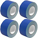 Seismic Audio - SeismicTape-Blue603-4Pack - 4 Pack of 3 Inch Blue Gaffer's Tape - 60 yards per Roll