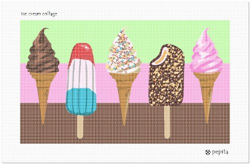 pepita Ice Cream Collage Needlepoint Kit