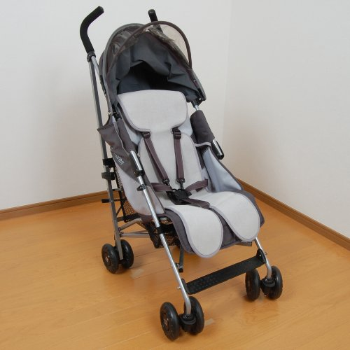 Sweat back mesh stroller seat (also used in the child seat available) Gray by WatariYoshimi woolen (Image #3)