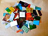 Over 10 LBS LARGE Pieces Spectrum Wissmach Stained Glass Mosaic SCRAP Lot #26