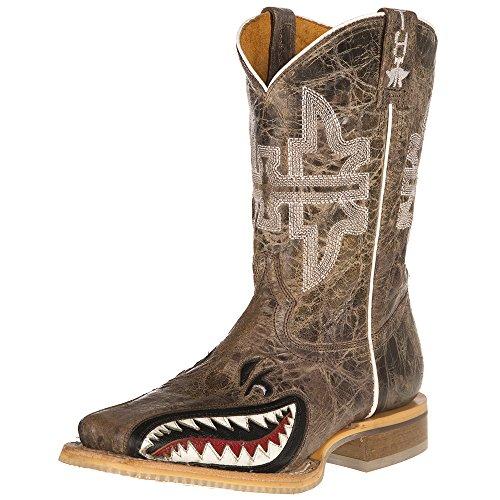 Tin Haul Shoes Boys' Sharky Western Boot, Tan, 10 Medium US Toddler