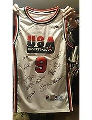 b32c6c090 1992 Olympic Dream Team signed jersey auto Jordan Malone Drexler Robinson