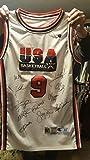 1992 Olympic Dream Team signed jersey auto Jordan Malone Drexler Robinson