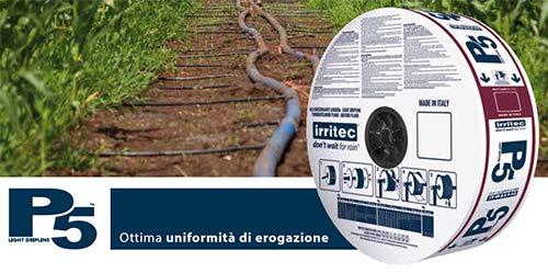 Irritec Manichetta irrigazione P5 Ø16 12mil 25cm 2,1lph - 1500 mt Metri Tubo irrigazione