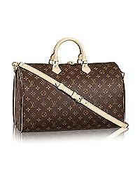 Louis Vuitton Monogram Canvas Crosss Body Leather Handles Handbag Speedy Bandouliere 40 Article: M41110