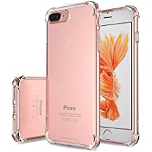CAPA PARA CELULAR IPHONE 8 PLUS 5.5 BORDA ANTI IMPACTO TPU TRANSPARENTE